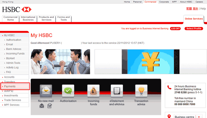 Business Internet Banking: Business Internet Banking Hsbc Hk
