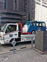 ドラえもん車、警察に違反切符を切られる
