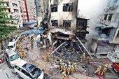 香港の街中で大爆発、3人が死亡