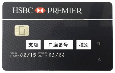 HSBC ATMカード