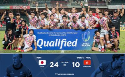 ラグビー日本代表、五輪出場確定!アジア大会決勝で香港に勝利