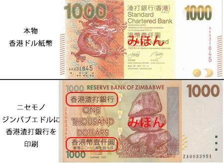香港ドルのにせ札