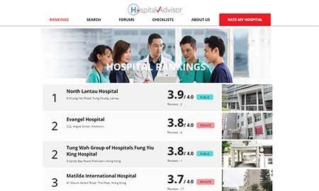 香港の病院クチコミ評価サイトが昨日リリース