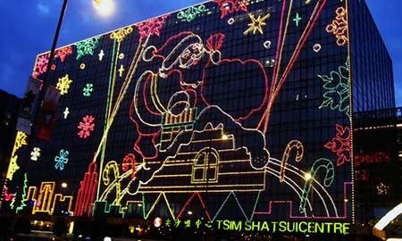 尖東一帯でクリスマスイルミネーションが開始