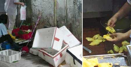 ローカル飲食店の不衛生な調理場が問題に