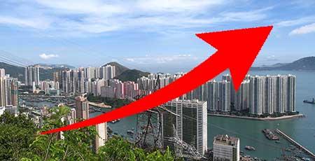 香港の住宅価格が過去最高を記録