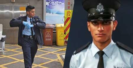 香港のイケメン警察官 ウルドゥー語で自殺から救う