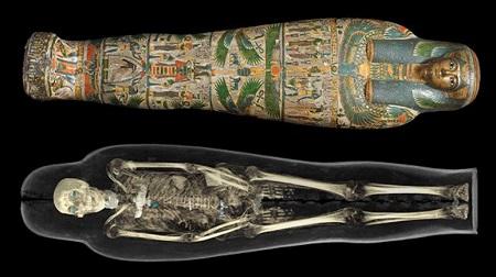 古代エジプトのミイラが香港科学館で展示