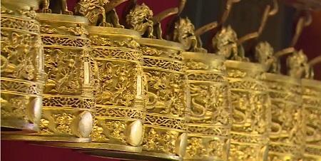 金メッキ銅鐸