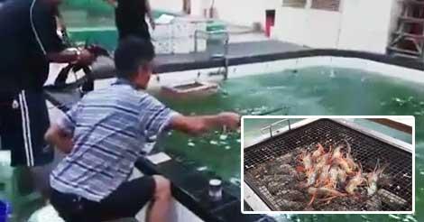 香港で大人気の「エビ釣りバーベキュー店」に問題発覚