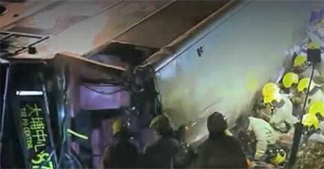 香港の大埔のバス横転事故の詳細