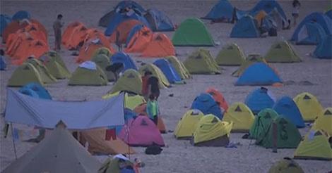 労働節で中国人が23%増加 キャンプ場では深刻なゴミ問題