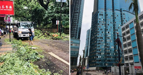 スーパー台風22号により香港各地で甚大な被害