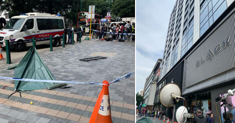 尖沙咀のミラホテルから窓が落下し女性が死亡