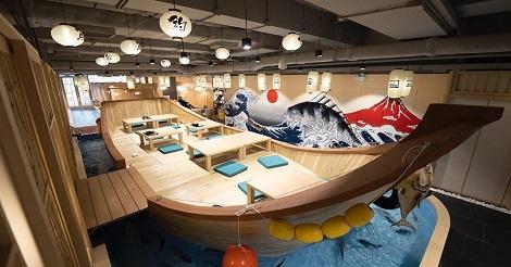 香港初の魚釣りができる居酒屋