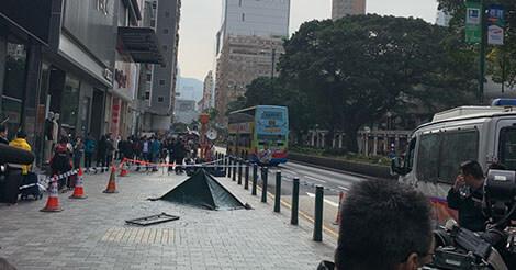 香港での窓の落下は5日間に1回発生している