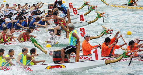 明日は祝日で猛暑日、ドラゴンボート祭りも開催
