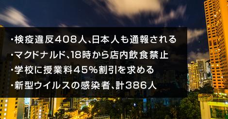 検疫違反408人、日本人も通報される