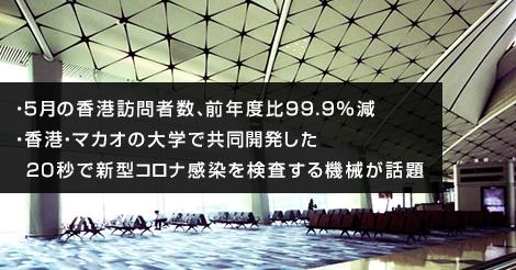 5月の香港訪問者数が前年度比99.9%減