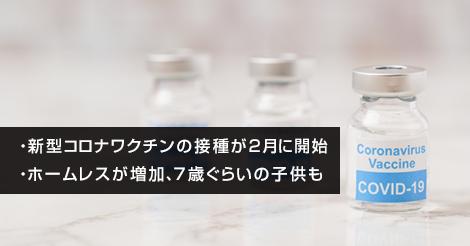 新型コロナワクチンの接種が2月に開始