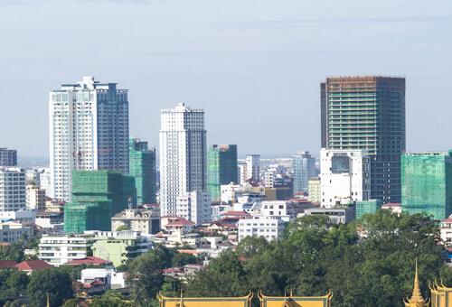 カンボジアの街並み