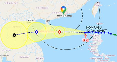 超大型台風コンパス
